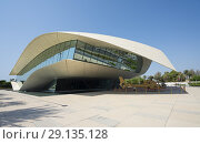 Купить «Modern Etihad Museum , a history museum of the UAE, in Dubai, United Arab Emirates.», фото № 29135128, снято 12 сентября 2018 г. (c) age Fotostock / Фотобанк Лори