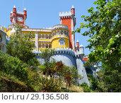 Купить «The Pena Palace. Sintra. Portugal», фото № 29136508, снято 3 июля 2016 г. (c) Serg Zastavkin / Фотобанк Лори