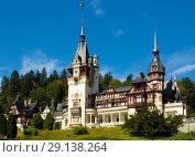 Купить «Peles Castle, Romania», фото № 29138264, снято 18 сентября 2017 г. (c) Яков Филимонов / Фотобанк Лори