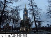 Купить «Успенский собор Тульского кремля (1762—1766)», фото № 29149988, снято 7 января 2018 г. (c) Александр Соболев / Фотобанк Лори