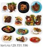 Купить «Set of beef and pork dishes», фото № 29151196, снято 16 июля 2019 г. (c) Яков Филимонов / Фотобанк Лори