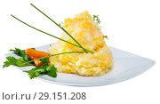 Купить «Clapshot – potato puree with melted butter», фото № 29151208, снято 20 октября 2018 г. (c) Яков Филимонов / Фотобанк Лори