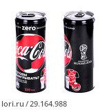 Купить «Coca-Cola Zero FIFA World Cup Russia 2018 Edition», фото № 29164988, снято 2 октября 2018 г. (c) Art Konovalov / Фотобанк Лори