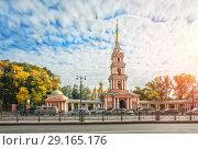 Купить «Крестовоздвиженский казачий собор The Holy Cross Cossack Cathedral», фото № 29165176, снято 21 сентября 2018 г. (c) Baturina Yuliya / Фотобанк Лори