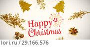 Купить «Composite image of christmas card», фото № 29166576, снято 19 февраля 2019 г. (c) Wavebreak Media / Фотобанк Лори