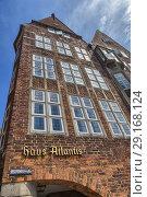Купить «Atlantis haus, Martinistrasse, Bremen, Germany.», фото № 29168124, снято 23 июня 2016 г. (c) age Fotostock / Фотобанк Лори