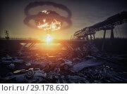 Купить «nuclear war disaster», фото № 29178620, снято 12 ноября 2019 г. (c) Виктор Застольский / Фотобанк Лори