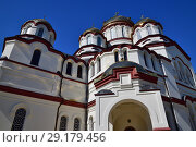 Купить «fragment of temple in Novy Afonsky for men Monastery in Abkhazia», фото № 29179456, снято 3 июня 2018 г. (c) Володина Ольга / Фотобанк Лори