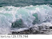 Купить «Raging Black Sea. Big wave with sea foam», фото № 29179744, снято 19 ноября 2017 г. (c) Алексей Дмецов / Фотобанк Лори