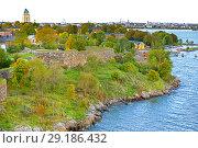 Купить «Suomenlinna is Unesco World Heritage site and one of most popular tourist attractions in Finland. Autumn. Хельсинки, Финляндия», фото № 29186432, снято 24 сентября 2018 г. (c) Валерия Попова / Фотобанк Лори