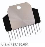 Купить «Integrated circuit or micro chip and new technologies on isolated.», иллюстрация № 29186664 (c) Gennadiy Poznyakov / Фотобанк Лори