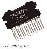Купить «Integrated circuit of digital computer parts. Logic electronic micro chip.», иллюстрация № 29186672 (c) Gennadiy Poznyakov / Фотобанк Лори