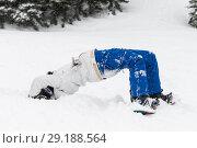Купить «Snowboarder performing a stunt in the snow, Whistler, British Columbia, Canada», фото № 29188564, снято 27 марта 2016 г. (c) Ingram Publishing / Фотобанк Лори