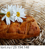 Купить «Fresh baked traditional pie», фото № 29194148, снято 28 мая 2020 г. (c) ElenArt / Фотобанк Лори