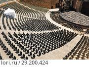 Купить «Amphitheatre in fortified city of Carcassonne», фото № 29200424, снято 27 июля 2017 г. (c) Сергей Новиков / Фотобанк Лори