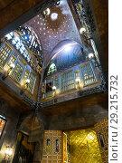 Купить «Interiors of Palau Guell», фото № 29215732, снято 2 сентября 2018 г. (c) Яков Филимонов / Фотобанк Лори