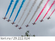 Купить «Celebrations for RAF100 began on 1 April 2018 when the Royal Air Force turned one-hundred One-hundred days later, the 10 July, as part of the main celebrations...», фото № 29222024, снято 10 июля 2018 г. (c) age Fotostock / Фотобанк Лори
