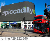 Купить «The new 790-square-metre digital screen in Piccadilly Circus will be fully functioning on Thursday 26 October 2017 after nine months of upgrade. The screens...», фото № 29222660, снято 25 октября 2017 г. (c) age Fotostock / Фотобанк Лори