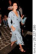 Купить «Paris Fashion Week Haute Couture - Vogue Foundation Dinner - Departures Featuring: Virginie Ledoyen Where: Paris, France When: 03 Jul 2018 Credit: WENN.com», фото № 29227280, снято 3 июля 2018 г. (c) age Fotostock / Фотобанк Лори