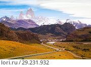 Купить «Views from highway at peaks of Andes», фото № 29231932, снято 31 января 2017 г. (c) Яков Филимонов / Фотобанк Лори