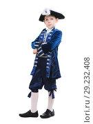 Купить «Little boy posing in musketeer costume», фото № 29232408, снято 25 сентября 2015 г. (c) Сергей Сухоруков / Фотобанк Лори