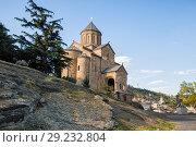 Купить «Metekhi Church, Tbilisi», фото № 29232804, снято 3 октября 2018 г. (c) Юлия Бабкина / Фотобанк Лори