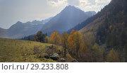 Купить «Caucasus in autumn», фото № 29233808, снято 10 октября 2018 г. (c) александр жарников / Фотобанк Лори
