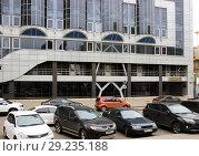 Купить «Здание суда Советского  района  Липецк», фото № 29235188, снято 9 октября 2018 г. (c) Евгений Будюкин / Фотобанк Лори