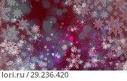Купить «Snowflakes and lights», видеоролик № 29236420, снято 16 июля 2019 г. (c) Wavebreak Media / Фотобанк Лори