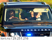Купить «Guests attending the wedding reception of Prince Harry and Meghan Markle Featuring: Prince Edward, Countess Of Wessex Where: Datchett, Berkshire, United...», фото № 29251216, снято 19 мая 2018 г. (c) age Fotostock / Фотобанк Лори