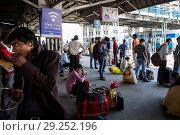 Купить «India, Varanasi, railway station», фото № 29252196, снято 6 марта 2018 г. (c) age Fotostock / Фотобанк Лори