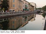 Купить «Italy, Lombardy, Milan, Naviglio Great view. INavigli, Naviglio Grande canal and path alzaia Naviglio Pavese», фото № 29253380, снято 10 августа 2013 г. (c) age Fotostock / Фотобанк Лори