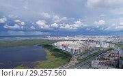 Купить «Aerial panorama of St. Petersburg, Russia», видеоролик № 29257560, снято 11 сентября 2018 г. (c) Михаил Коханчиков / Фотобанк Лори
