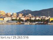 Купить «Port of Ajaccio, seaside photo. Corsica», фото № 29263516, снято 30 июня 2015 г. (c) EugeneSergeev / Фотобанк Лори