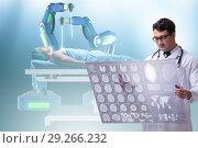 Купить «Telehealth concept with doctor doing remote check-up», фото № 29266232, снято 26 марта 2019 г. (c) Elnur / Фотобанк Лори