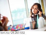 Купить «Young woman in the beauty salon», фото № 29267532, снято 2 июня 2018 г. (c) Elnur / Фотобанк Лори