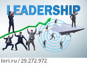 Купить «Concept of leadership with many business situations», фото № 29272972, снято 21 марта 2019 г. (c) Elnur / Фотобанк Лори