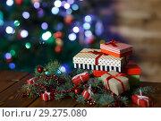 Купить «Room with Christmas tree», фото № 29275080, снято 15 ноября 2017 г. (c) Типляшина Евгения / Фотобанк Лори