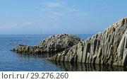 Купить «Rocks in Stolbchatiy cape, Kunashir», фото № 29276260, снято 31 июля 2010 г. (c) Сергей Майоров / Фотобанк Лори