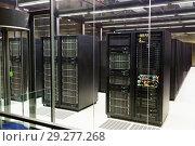 Купить «Server room in data center», фото № 29277268, снято 15 января 2018 г. (c) Яков Филимонов / Фотобанк Лори