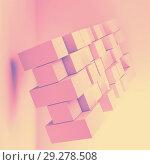 Купить «Random extruded cubes. 3d object», иллюстрация № 29278508 (c) EugeneSergeev / Фотобанк Лори