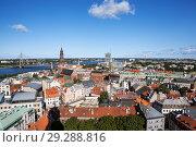 Купить «Вид на Ригу с башни церкви святого Петра. Латвия», фото № 29288816, снято 22 августа 2018 г. (c) Сергей Афанасьев / Фотобанк Лори