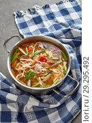 Купить «leftover peking duck udon noodle soup», фото № 29295492, снято 19 октября 2018 г. (c) Oksana Zh / Фотобанк Лори
