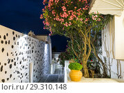 Купить «Night street in Fira, Santorini island, Greece», фото № 29310148, снято 7 июня 2017 г. (c) Наталья Волкова / Фотобанк Лори