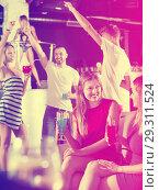 Купить «females friends with cocktail talking in the club on party», фото № 29311524, снято 28 августа 2017 г. (c) Яков Филимонов / Фотобанк Лори