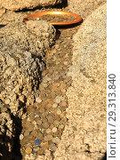 Монеты. Подношение духу местности. Язычество. Буддизм. Ритуал. Стоковое фото, фотограф Валерий Митяшов / Фотобанк Лори