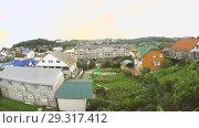 Купить «Вид из окна жилого дома на Вардане», видеоролик № 29317412, снято 22 мая 2019 г. (c) Элина Гаревская / Фотобанк Лори