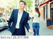 Купить «Annoyed guy after quarrel», фото № 29317908, снято 11 апреля 2017 г. (c) Яков Филимонов / Фотобанк Лори