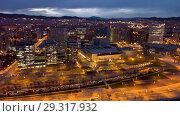 Купить «European city Barcelona with view of blocks of flats in evening», фото № 29317932, снято 19 марта 2018 г. (c) Яков Филимонов / Фотобанк Лори