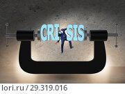 Купить «Business concept of crisis and recession», фото № 29319016, снято 18 марта 2019 г. (c) Elnur / Фотобанк Лори
